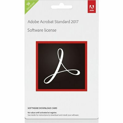 Adobe Acrobat Standard 2017 Windows Edition Card