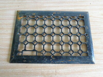 Antique 8 x 12 Heavy Cast Iron Floor Heating Vent Grate Hardware Home Decor