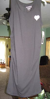 Great Expectations ~ Sleeveless Black Maternity Tee Dress ~ Size 12-14 or Large