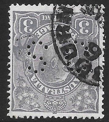 KGV    3d  BLUE  SMALL MULTI WATERMARK  INVERTED P14 & OFFICIAL,  SCARCE
