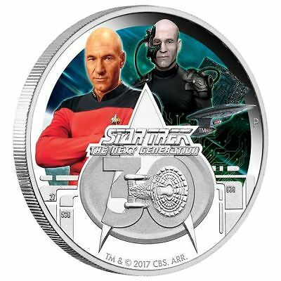 2017 Star Trek The Next Generation 30th Anniversary 1oz $1 Silver Proof Coin