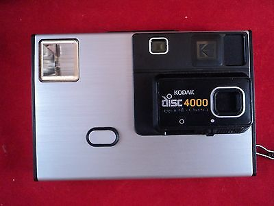 Kodak Disc 4000 Film Camera  Retro Photography Photos 1980's Vintage FREE SHIP