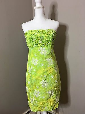 Women s Lilly Pulitzer Blue Green Strapless Engineered #0: Lilly Pulitzer Sz 10Medium Lime Green Floral Strapless