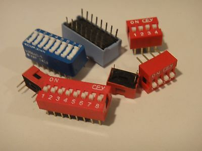 Top adjust DIP switches - Choice of 1P 2P 4P 5P 6P 8P 9P 10P