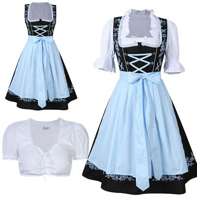Kojooin Dirndl Oktoberfest German Austrian Costume Fancy Dress Size S M L XL 2XL
