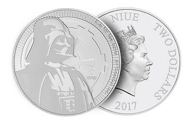 Niue - 2 Dollars ($2) - 2017 - Star Wars - Darth Vader - 1 Oz. - Silver 999 - BU