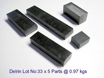 Black Acetal Assorted Lot No: 33 x 5 parts -Engineering, Bush, Bearings and Gear
