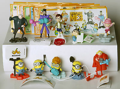 Kinder Surprise Eggs Toy Minions 2017 Despicable Me 3 + BPZ. Single Characters.