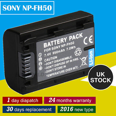 950mAh Battery for SONY NP-FH50 NP-FH60 NP-FH40 NP-FH30 UK HDR-HC3 HC3HK1 HC3E