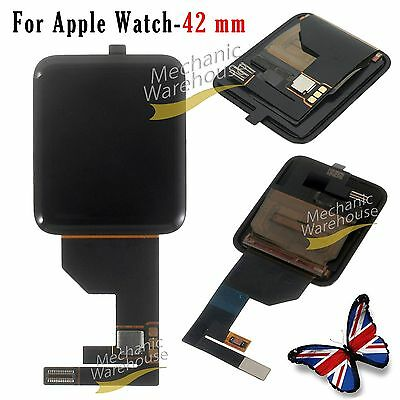 For Apple Watch 42mm LCD Screen Digitizer Front Glass Display Replacement Black