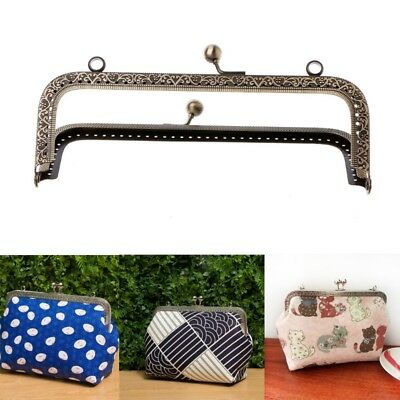 1Pc DIY Purse Handbag Handle Coins Bags Metal Kiss Clasp Lock Frame DIY 12.5cm