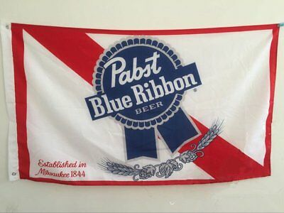 Pabst Blue Ribbon Beer Brewing Company Banner Flag 3x5 Feet