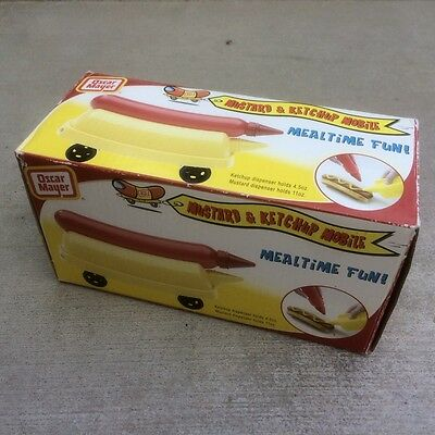 Oscar Mayer MUSTARD MOBILE with ketchup hot dog condiment bottles advertising