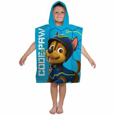 Girls Boys Favorite Cartoon Paw Patrol Spy Print Hooded Towel Poncho Beach Bath