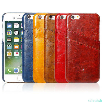 New Wallet Flip PU Leather Phone Case Cover For iPhone 6/6s/7/7p Glossy Portable