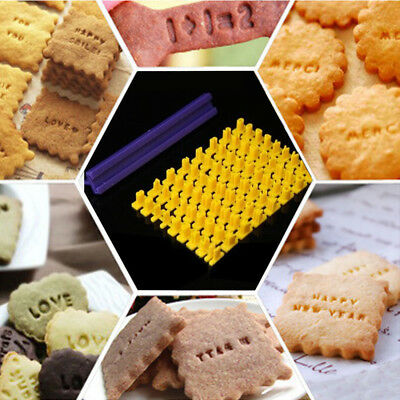 1Set English Letters Numbers Biscuit Stamp Model Snake Cake DIY Press Tools
