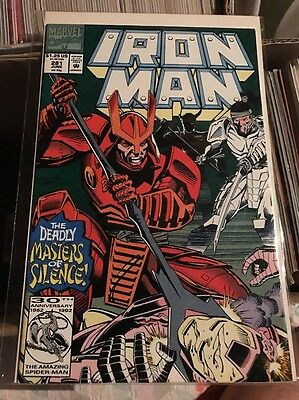 IRON MAN # 281 , MARVEL COMICS 1992 , 1st WAR MACHINE CAMEO APPEARANCE