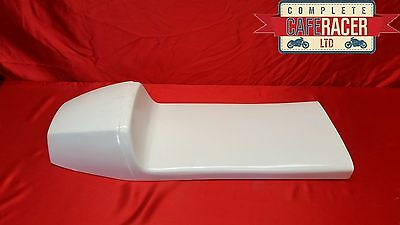 Triton Extra Long Style Fibreglass Cafe Racer Seat White – May Fit 2 People