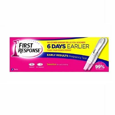 First Response Early Results Pregnancy Test 2 per Pack 1 2 3 6 12 Packs
