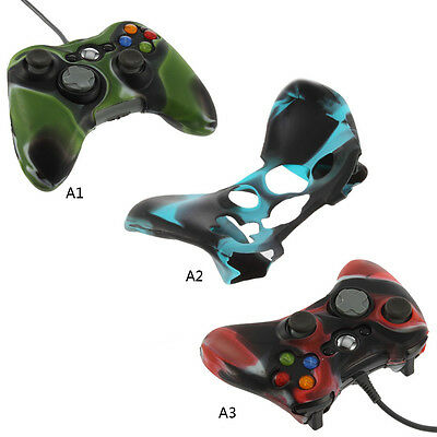 Army Camouflage Soft Silicone Skin Case Cover for Xbox 360 Controller Protect Y