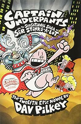 Captain Underpants and the Sensational Saga of  by Dav Pilkey New Paperback Book
