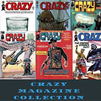 CRAZY Magazine 91 Issues - Illustrated satire & humor vintage retro magazine DVD