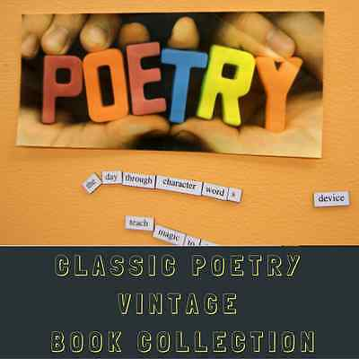 POETRY BOOKS - Poetry & Verse e-Book Collection - 145 Rare Old Books on  DVD-ROM