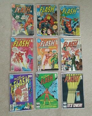 The Flash Silver Age comics 9 issues