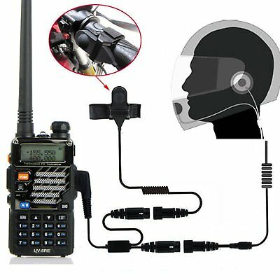 2 PIN Motorrad Helm Intercom Interphone Headset Gegensprechanlage Two Way Radio