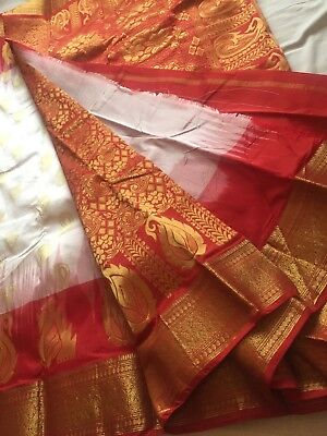 Indian Banarasi/Kanchivaram Bridal Sari / Katan /Kanchipuram Silk Saree 1004