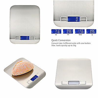 Scale Kitchen Digital Food Diet 5kg Electronic Weight 1g Lcd X Postal 11lb Meal