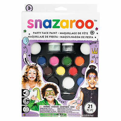 Snazaroo Ultimate Party Pack All In 1 Face Painting Kit Paint Up To 65 Faces