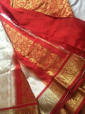 Indian Banarasi/Kanchivaram Bridal Sari / Katan /Kanchipuram Silk Saree 1005