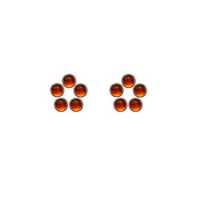5x5mm 10pc Fine Quality Rose Cut Faceted Cabs Natural Hessonite Garnet
