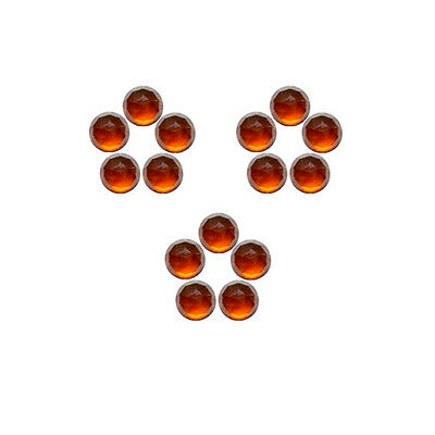 6x6mm 15pc Fine Quality Rose Cut Faceted Cabs Natural Hessonite Garnet