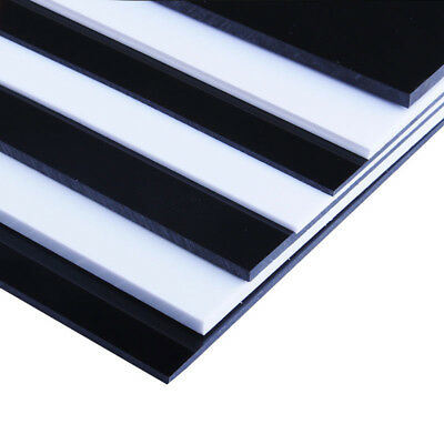 ABS Plastic Sheet Panel White/Black DIY Model Craft 0.5mm~5mm Thick Choose Sizes