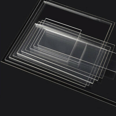 1/1.5/2/3/4/5/6/8mm Thick Clear Plastic Perspex Acrylic Cut Sheet Various Sizes