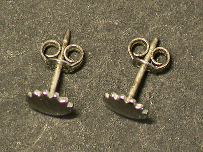 Antique  Sterling Flower Earings, 6mm, Both Earings are Stamped #G7079