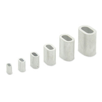 Aluminium Wire Rope Ferrules Clamp Sleeves 1mm 2mm 3mm 4mm 5mm 6mm 8mm 10mm 12mm