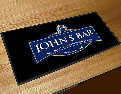 Personalised Best bar Blue Label bar runner Pubs & Cocktail Bars Bar Mat