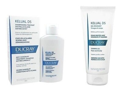 Ducray Kelual DS Anti-Dandruff Treatment Shampoo 100ml Foaming Gel 200ml Itching