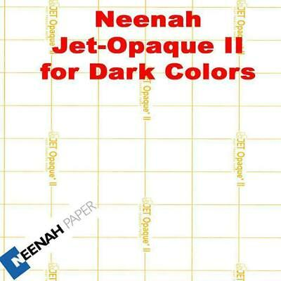 FREE PRESSING SHEET & Neenah Jet Opaque II Heat Transfer Paper 8.5x11-400 Sheets
