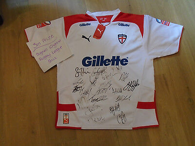 England Rugby League - Four Nations 2009 signed shirt