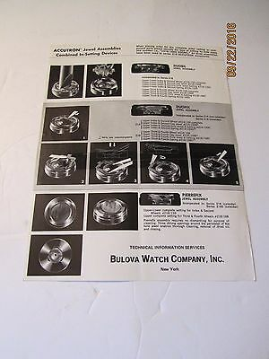 Bulova Accutron Jewel Assemblies Combined In-Setting Devices