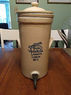 1800's Antique Doultons ceramic water Purifier LAMBETH LONDON No. 1 stoneware