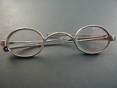 Pair Of Folding Georgian Silver Wig Spectacles