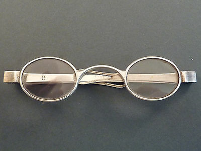 A Pair Of Folding Georgian Silver Wig Spectacles
