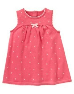 NWT Gymboree Newborn Baby Girl SWEET PARIS Polka-Dot Sweater Jumper Dress 18-24