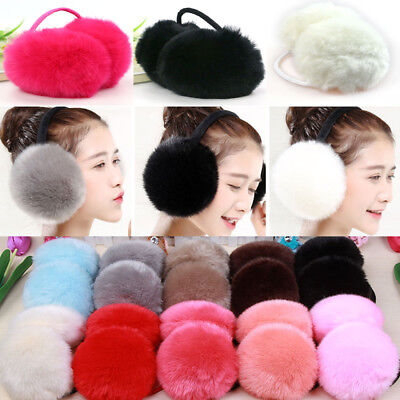 Adult Children Classic Ear Cover Winter Women Girl Fuzzy Faux Fur Warm Ear Muffs