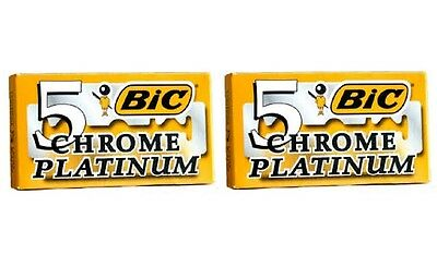 BIC Chrome Platinum Double Edge Safety Razor Blades 10 Ct + FREE Makeup  Blender 250139358d37